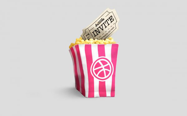 Pink Popcorn Bag
